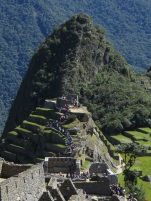 Wayna Picchu towers over the ruins