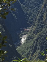 Aguas Calientes down below