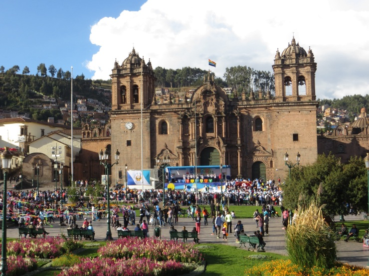 The Healthy Living promotion in the Plaza de Armas