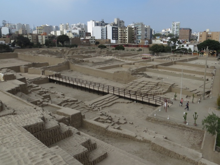 Huaca Pucllana built by the Lima culture c600 A.D