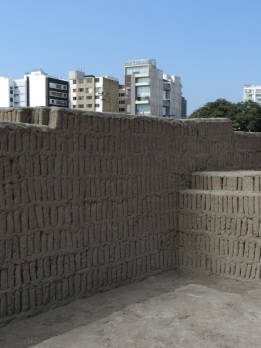 The bricks of the walls were constructed with space between to withstand earthquakes