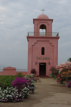 Tacama vineyard buildings are all pink