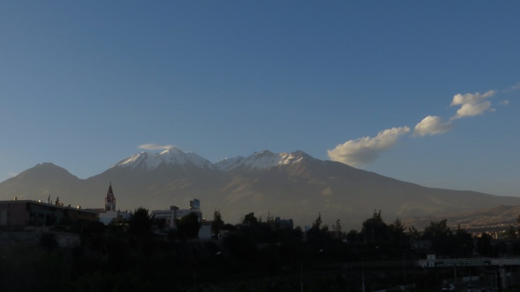 Volcanoes next to Arequipa