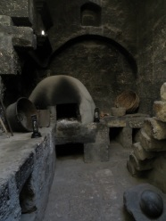 Smoke blackened kitchen in the Convent