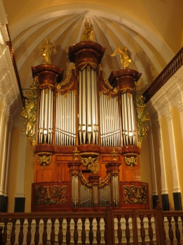 The organ in the Cathedral