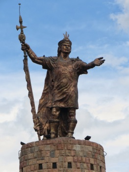 King Pachacutec on top of his monument