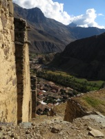 Looking down on Ollantaytambo