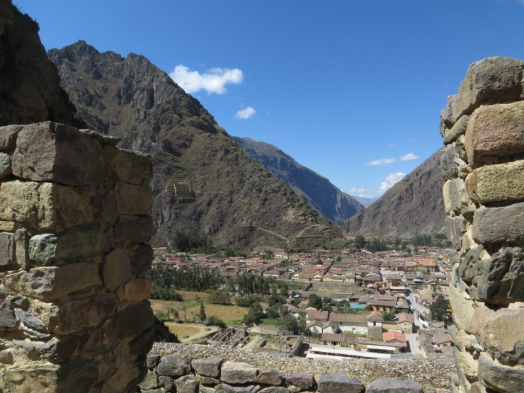 View of Ollantaytambo and the valley from the ruins