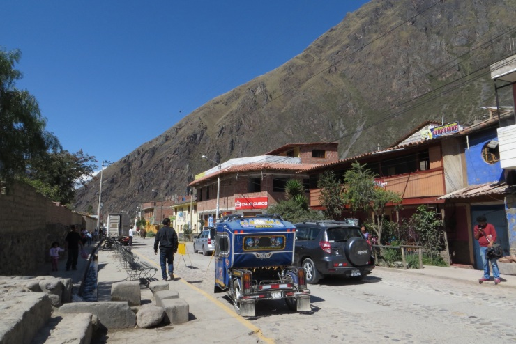 One of the main streets in Ollantaytambo