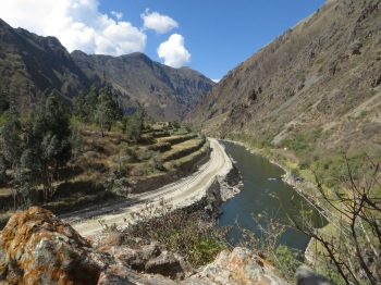 View back towards the Inca Bridge