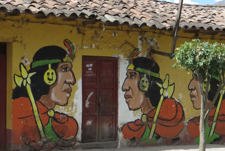 This 'graffiti' is all over Peru