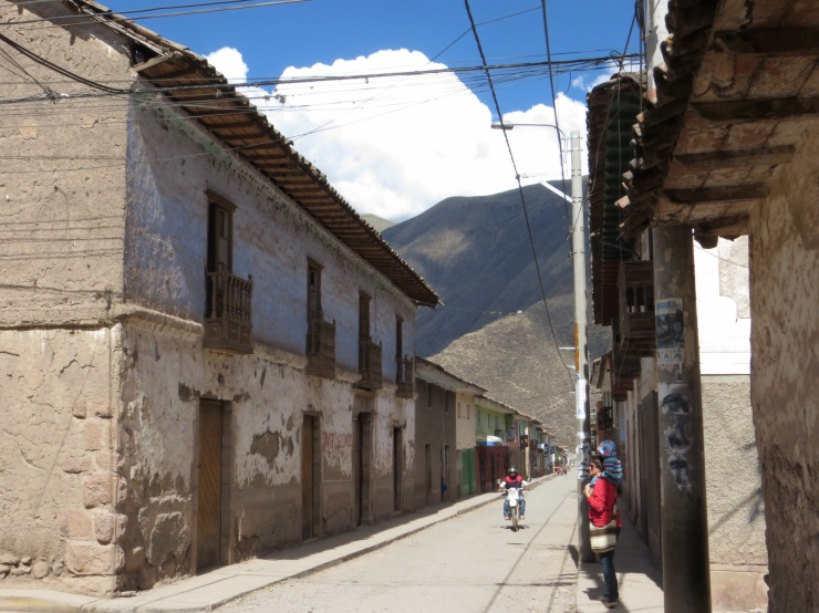 The street from the house to the main plaza in Calca
