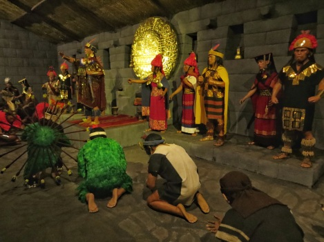 Inca tableau in the Inkariy Museum