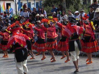 Animated and colourful dancers