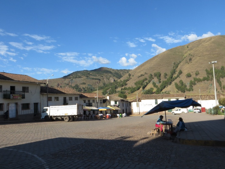 The main plaza in Huaracondo
