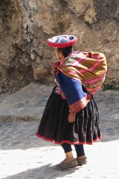 A local lady in Chinchero