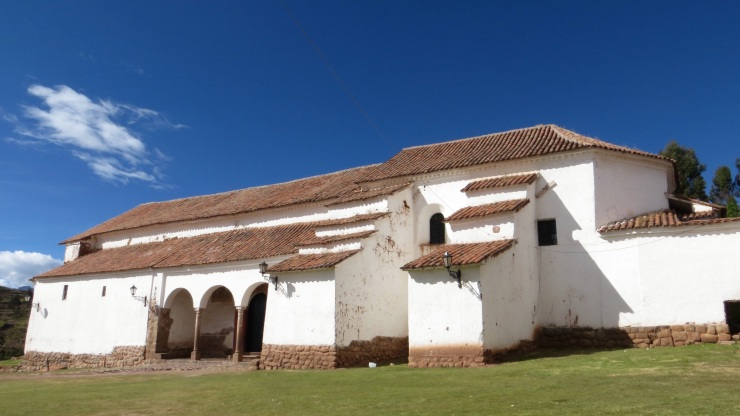 Exterior of the church in Chinchero
