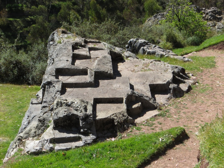 Wedges cut in the rock by the Incas