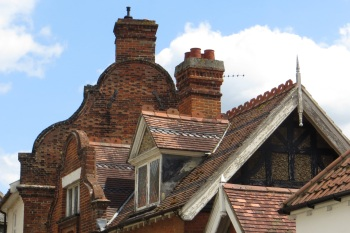 A varied roof line!