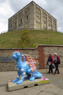 Norwich Castle with dragon!
