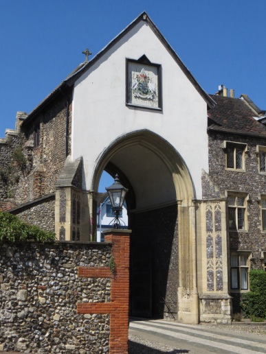 One of the archway entrances to Cathedral Close