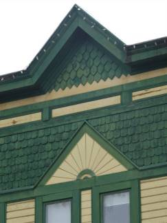 Architectural detail of Dominion cafe in Nelson