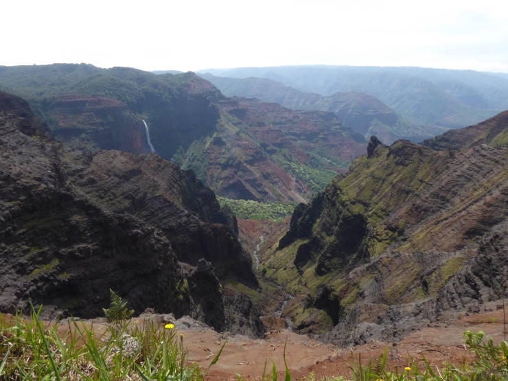 Colourful Waimea canyon