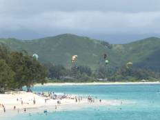 Kitesurfers at Kailua Beach