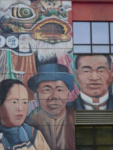 Mural depicting the heritage of Vernon