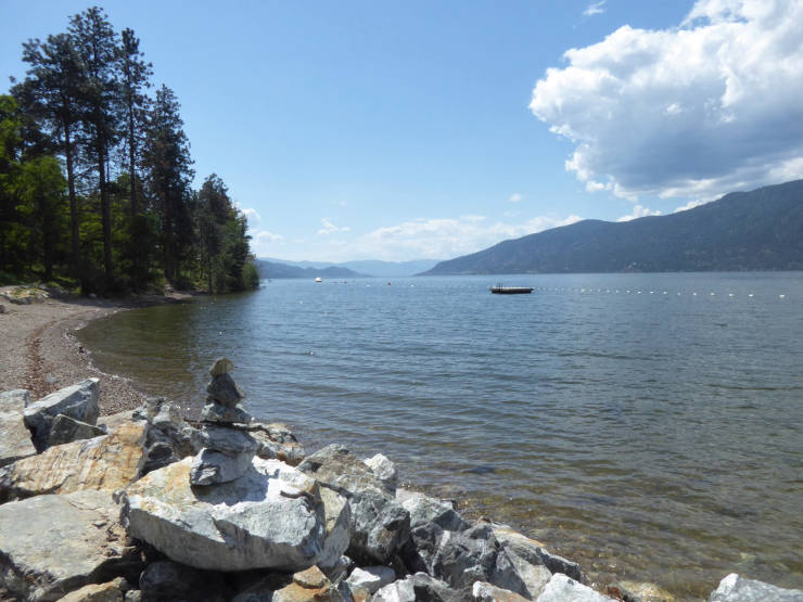 Okanagan Centre shoreline