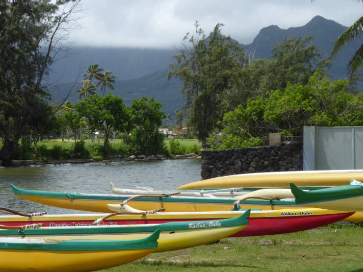 Outriggers at Lanakai