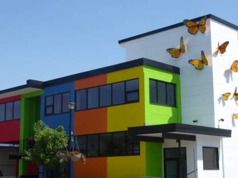 Very colourful building in Salmon Arm