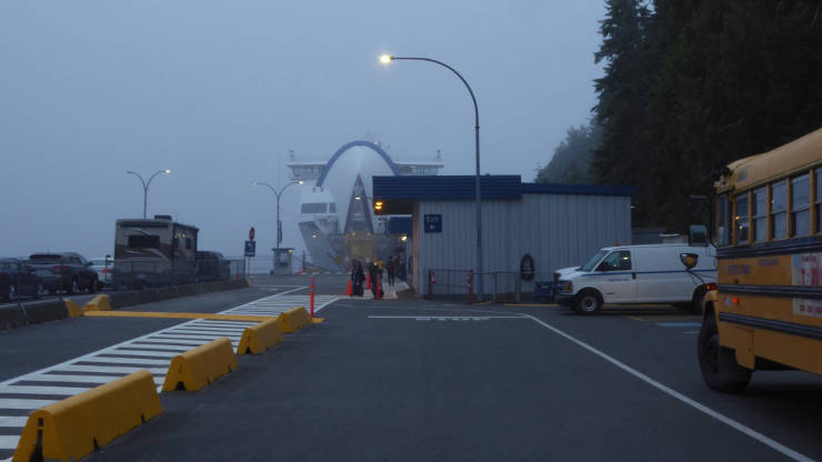 Early morning at the ferry terminal