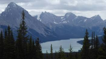 Maligne Lake from lookout
