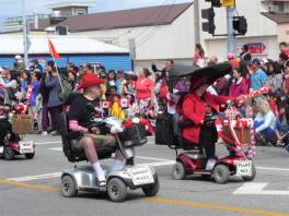 Mobility scooters in the parade