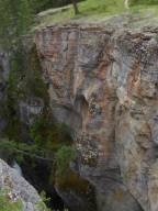 Rock face at Maligne Canyon