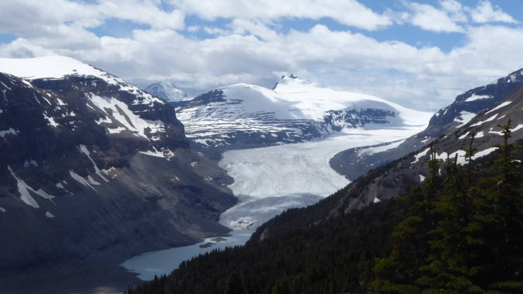 Saskatchewan glacier from our picnic spot