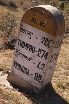 Sign post in Bhutan