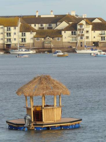 An unusual vessel in Teignmouth estuary