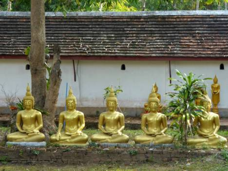 Buddhas outside the meditation hall