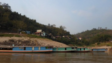 Cargo boats at Pakbeng