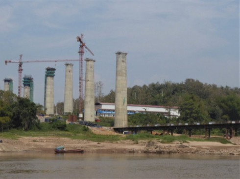 Chinese railway bridge under construction