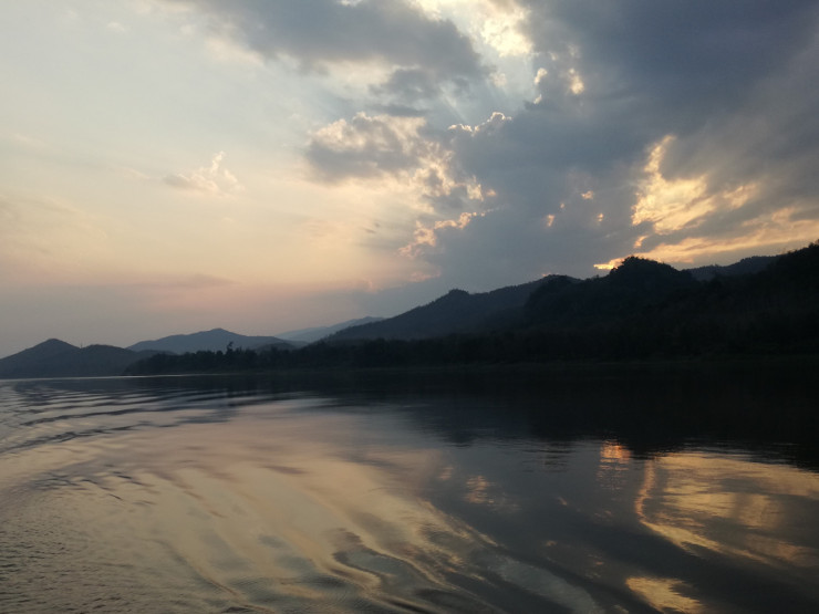 Cruising back to Luang Prabang