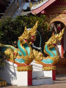 Dragons at the temple entrance