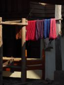 Dyed cotton drying