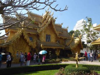 Golden building in White Temple complex