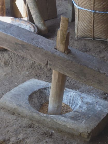 Grinding rice
