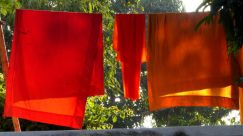 Monks robes drying in the sun