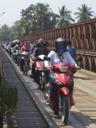 Motorbikes on the bridge