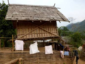 Rice storage hut